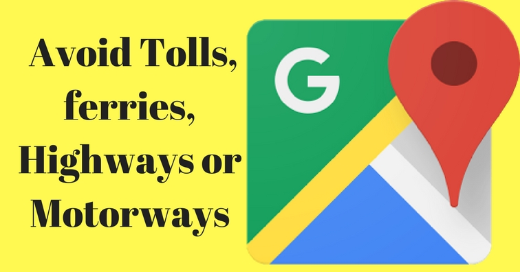 avoid tolls on google maps